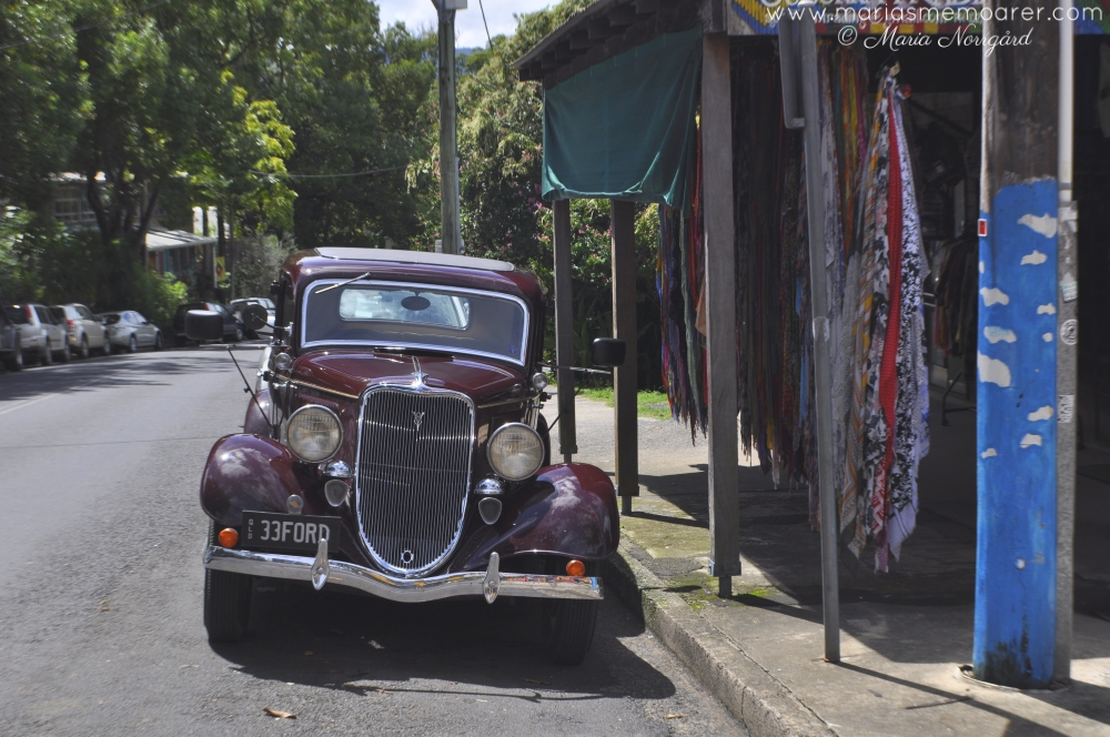 vintage car in hippie village Nimbin, Australian East Coast