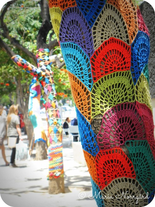 knitting tree art in Santa Cruz, Tenerife