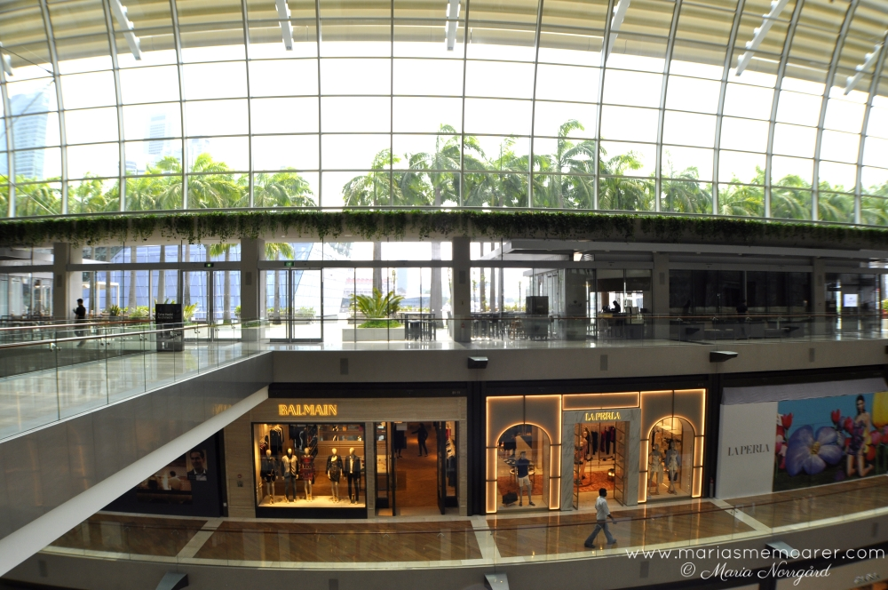 The Shoppes luxury mall in Singapore - lyxshopping i Singapore, shoppingcenter