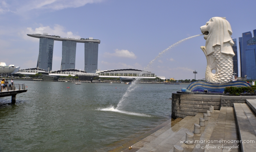 sevärdheter i Singapore: Merlion och Marina Bay Sands / Sightseeing in Singapore downtown