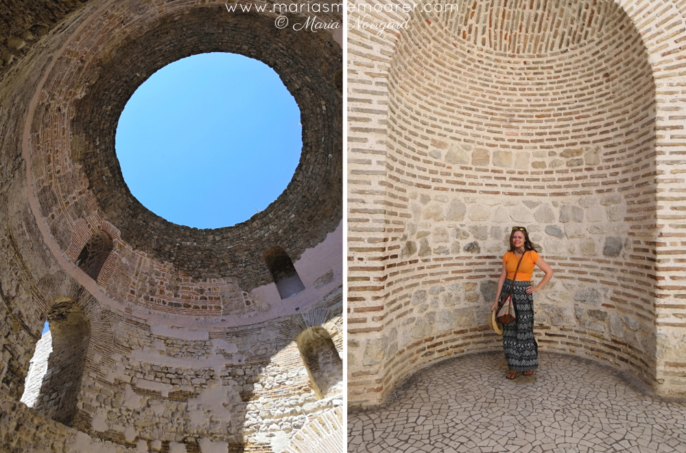 Vestibulum of Diocletians Palace - selfie spot in Split, Croatia