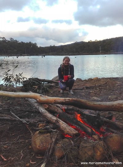 Campingspot at Lake St Clair, Tasmania