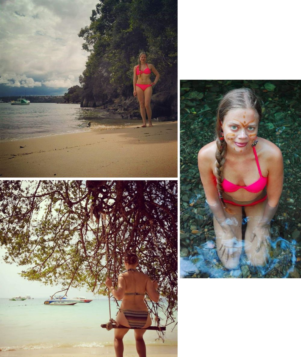 bikiniselfies under resor / bikini travel selfies