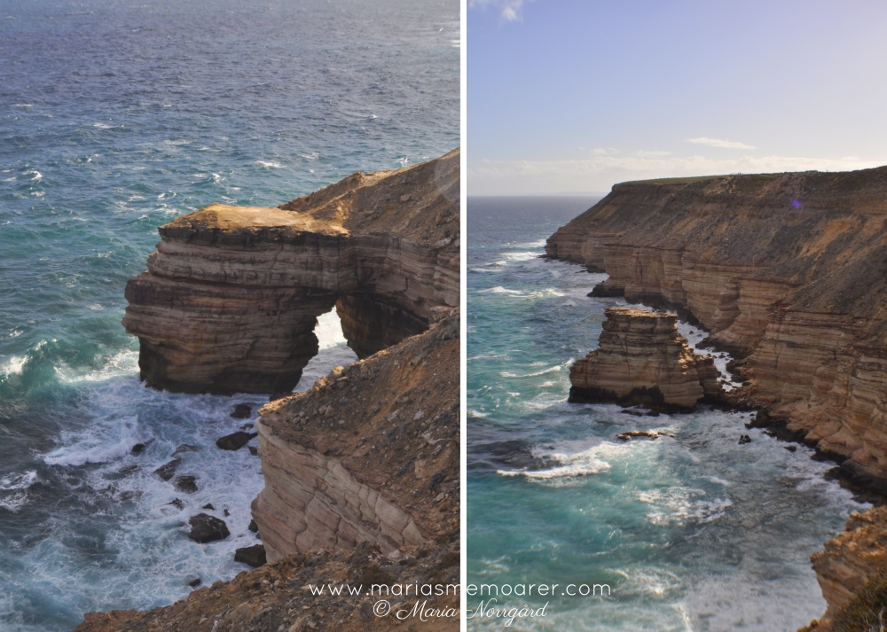 Kalbarri beautiful viewpoints: Natures Window and Island Rock, WA