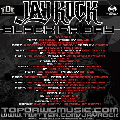 Jay Rock - Black Friday Tracklist back