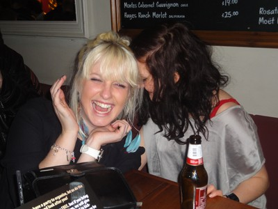 Me and Jenny at a pub