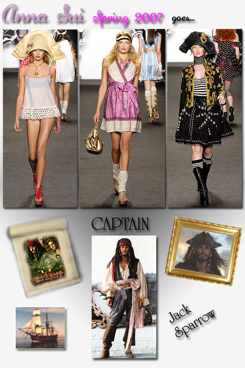 Anna sui goes captain jack sparrow