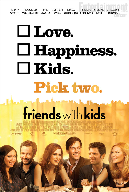 Film: Friends with Kids - Romcom som är mer drama än komedi