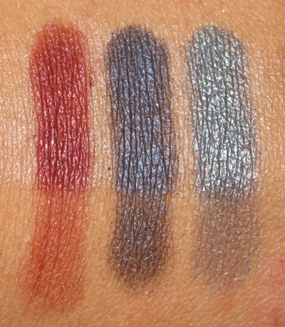 Swatches Metal Cherry, Tuch, Ashes