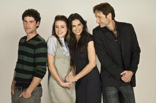 Ben Hollingsworth, Amber Heard, Demi Moore och David Duchovny i Familjen Jones.
