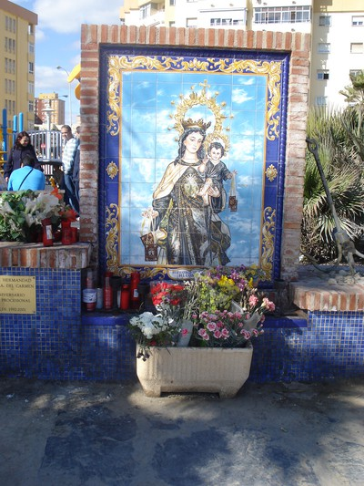 Virgen along the beachwalk. For the ones lost at sea.