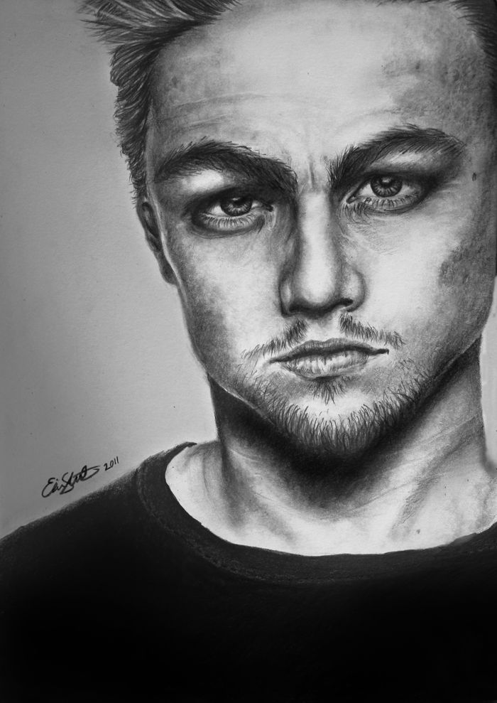 leonardo dicaprio art, drawing, portrait, black lead