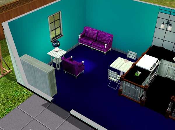 Snyggt vardagsrum i The Sims 3