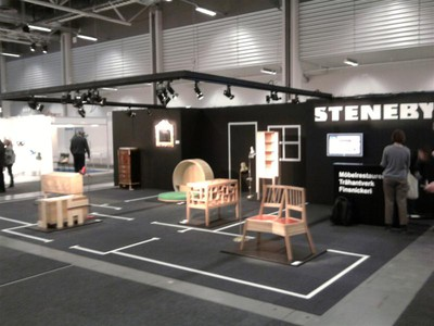Stenebyskolans monter på stockholm furniturefair 2010