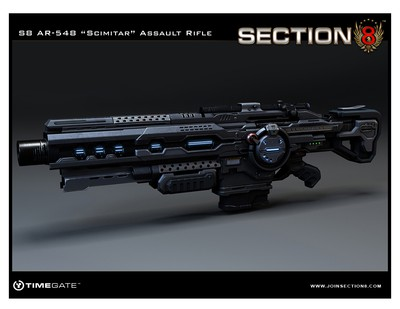 This is how i would picture James Assault rifle. Except it would be with a cammo, probably red. And a longer ammunition-holder.