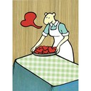 215 hearts on plate