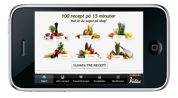 iPhone kategori alla recept