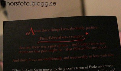 First, Edward was a vampire