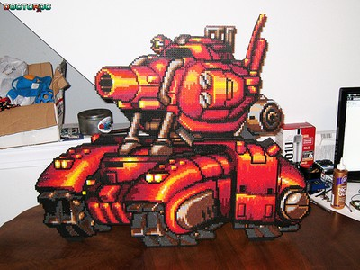 red tank metal slug perler
