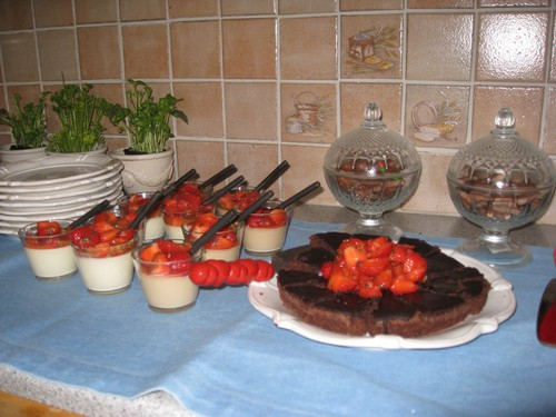 Pannacotta & brownies