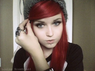 Louise Nosebleed emo hipster