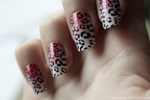 Louise Nosebleed scene sweden EpicWaste girl queen naglar nails leopard mönster japanskt