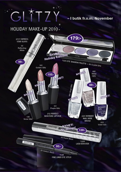 http://thisismed.blogg.se    IsaDora Holiday Collection; Glitzy