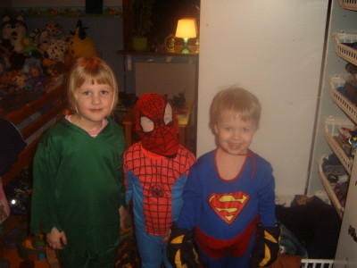 robin hood,spiderman & superman!