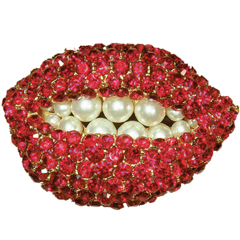 "Dalí ""Ruby lips pin"""
