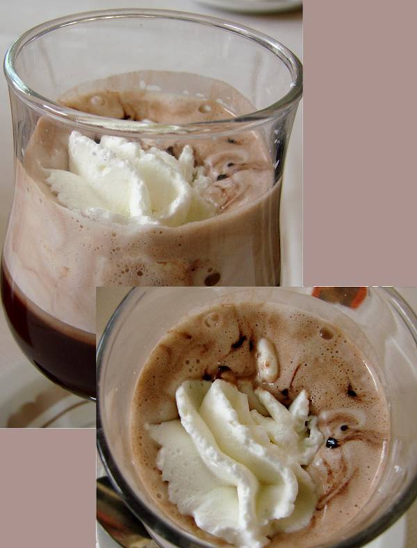Bicerin 'd Cavour ice chocolate drink