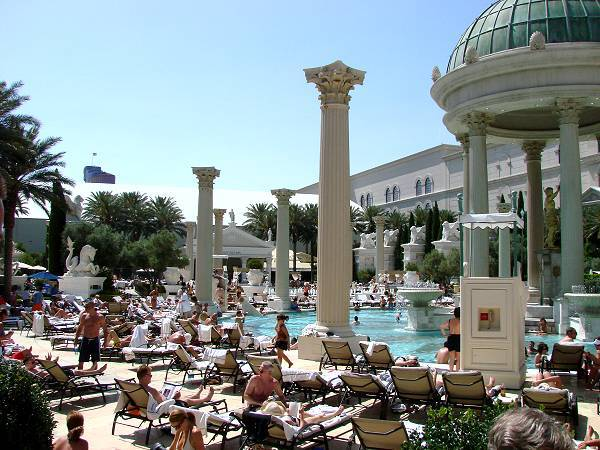 Pool area, Caesars Palace