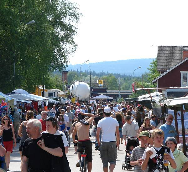 Yearly market day in Mockfjärd