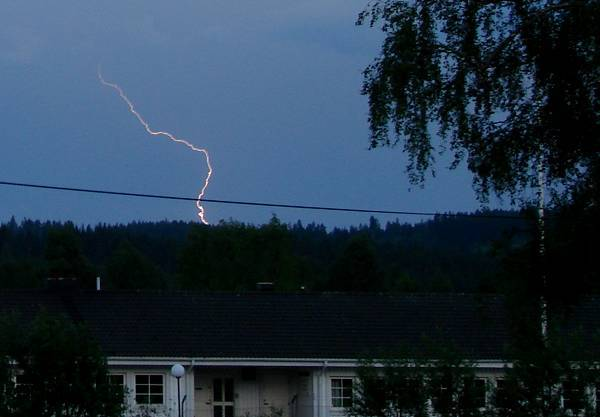 Lightning catched in daylight