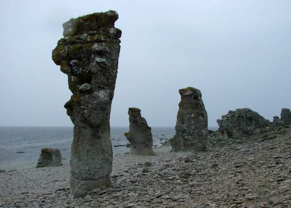 Stone pillars at Langhammars, Fårö