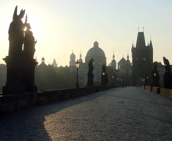 Charles Bridge in early morning light