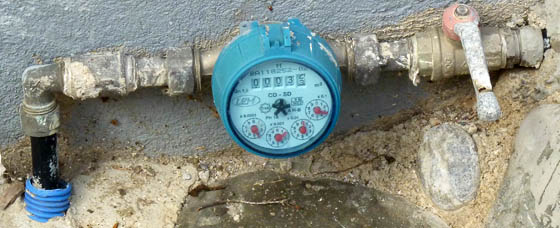Greek water meter