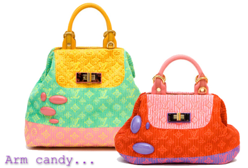 Arm candy - Louise Vuitton bags