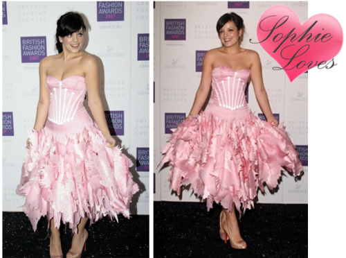 Lily Allen British Fashion Awards 2007
