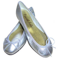 Silver ballerinaskor från French Sole
