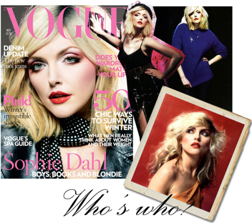 Sophie Dahl as Debbi Harry Vogue nov 07