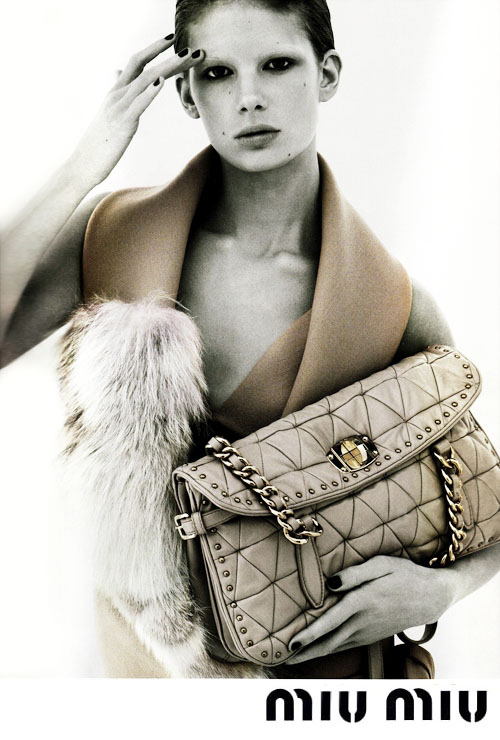 Miu Miu ad aw 09 by Mert and Marcus