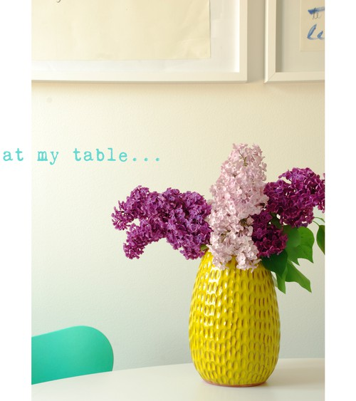 At my table - Lilacs