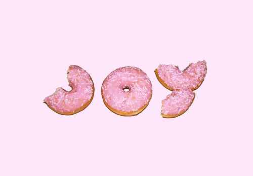Joy by Jonathan Ford at Society6    pink donuts