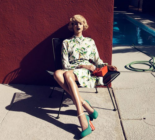 Lachlan Bailey for Harper's Bazaar US February 2012 - Palm Springs 1