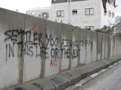 Grafitti i Hebron