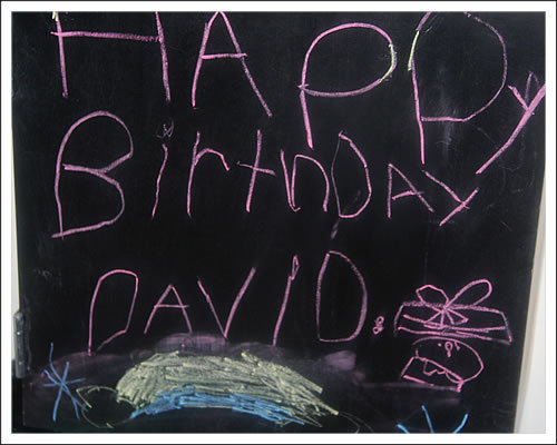 Davids birthday party