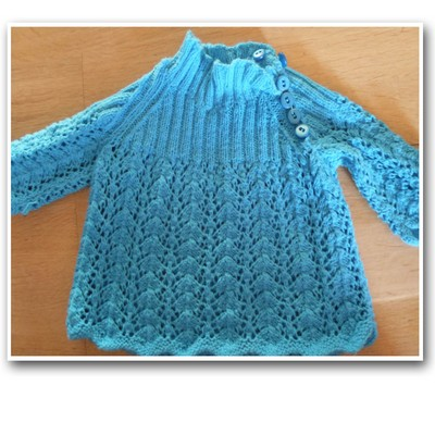 knitted babydress