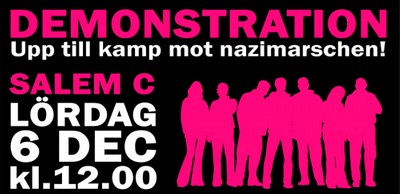 Mobilisera mot nazisterna. Salem Centrum, 6:e december. 12.00