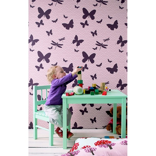 Tapet Kids butterfly 504 från Ferm Living