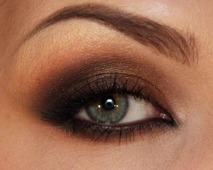 Brown and orange smokey eyes | Sandra Holmbom